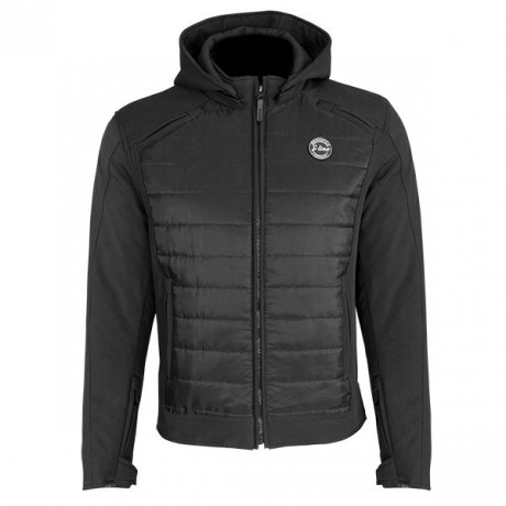 Blouson Softshell Puffy Homme SPLITTED - Noir - Taille S